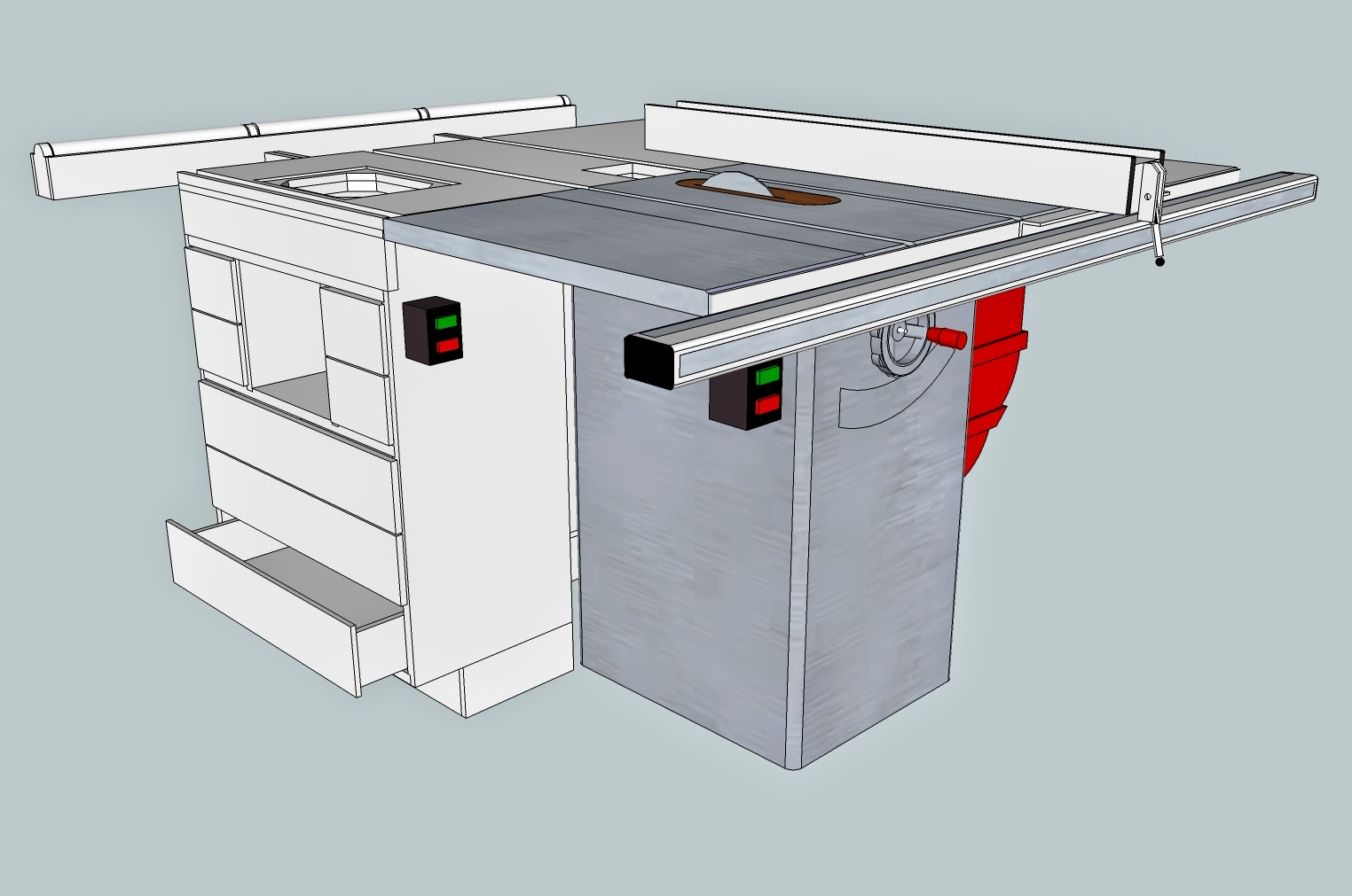 garage workbench and cabinet ideas - Tony s Woodshop Table Saw Outfeed Support