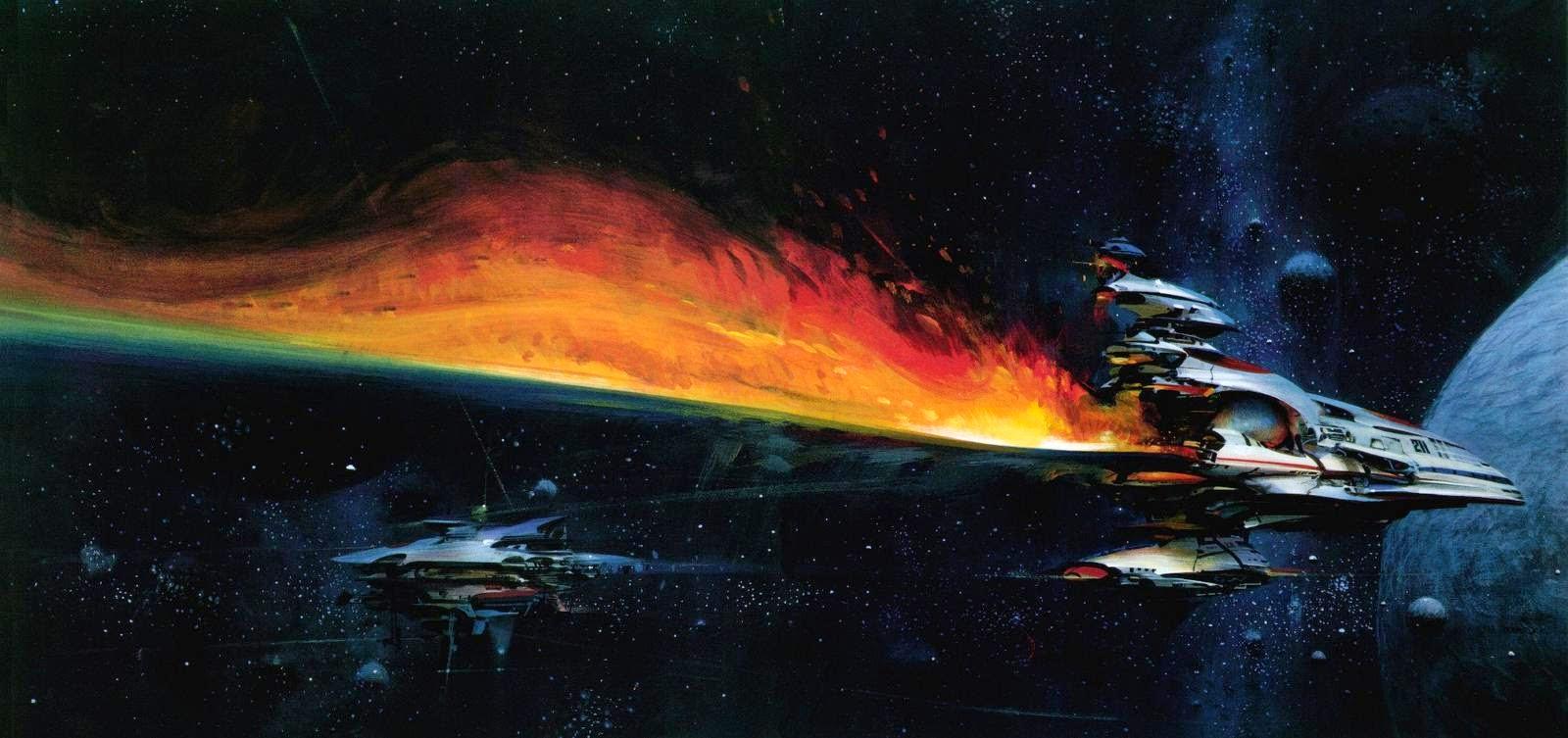 John Berkey pintura del espacio