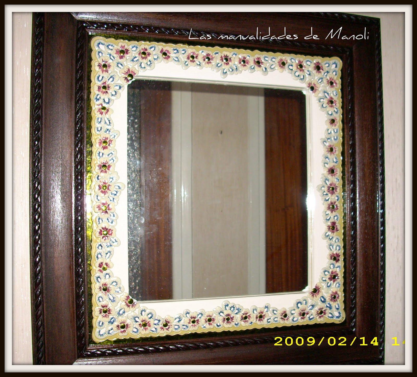 Las manualidades de manoli espejos con marco de esta o for Marcos de espejos originales