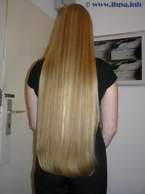 White long hair by African girl
