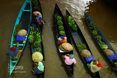 lok baintan, floating market, kalimantan