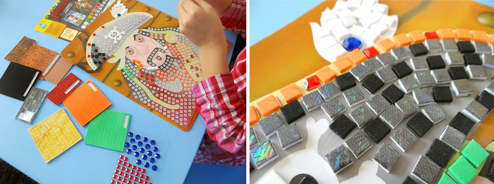 Asobi Toys, Children Art and Craft Kit, Mosaics by Numbers