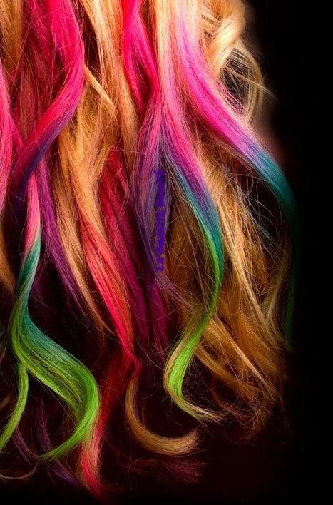 craie pour cheveux - Coloration Temporaire Rose