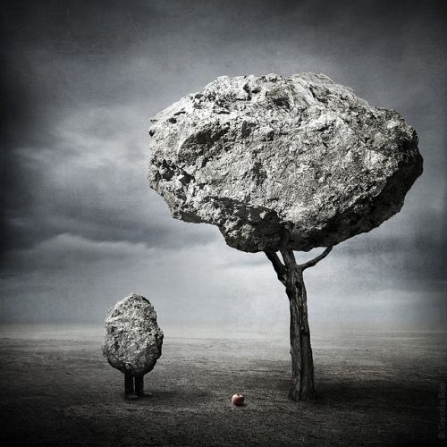 Sarolta Bán foto manipulação digital surreal mundos perdidos
