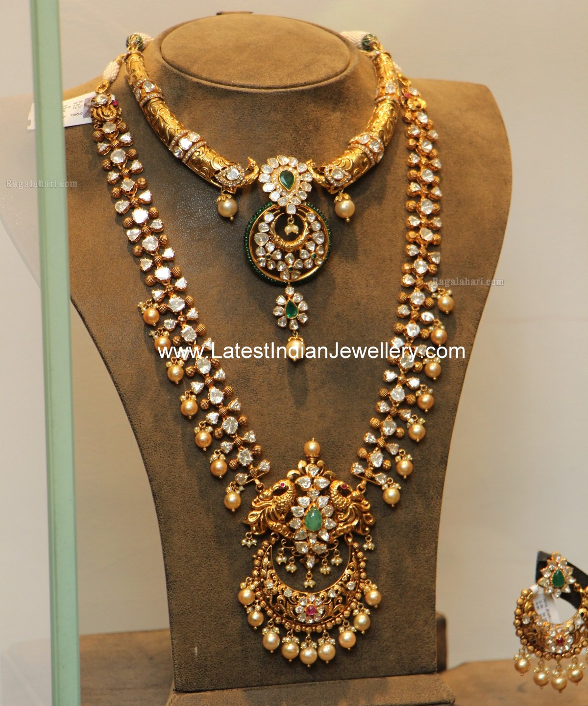Latest Indian Jewellery Designs 2015: Latest Pachi Haram Hasli Set