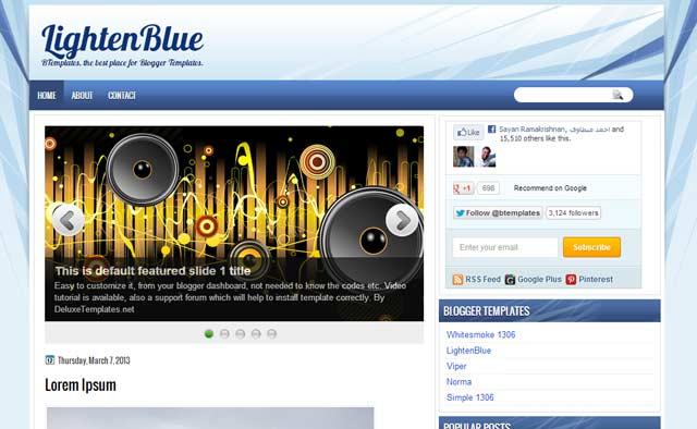 lighten blue 25+ Best Free Magazine Blogger Templates for 2013 Download