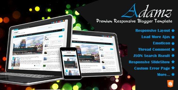 Adamz - Responsive Premium Blogger Template
