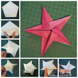 Estrela de origami para o natal