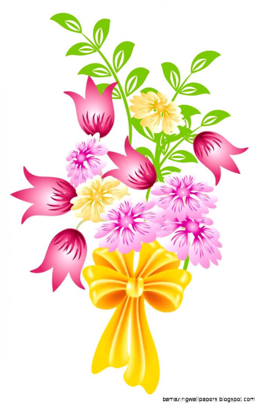 Spring Flower Bouquet Clip Art Background 1 HD Wallpapers
