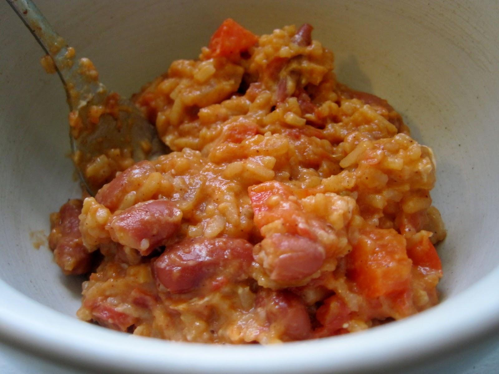 "Rachel vs. Ramen: ""All Red"" Rice and Beans"