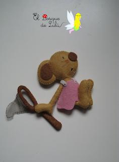 ratoncita-fieltro-decoración-infantil-niña-personalizada-elbosquedelulu-hechoamanoparati