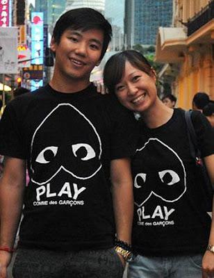 التشابه فى ارتداء الملابس دليل على الحب - زوجان حبيبان يابانيان صينيان - اسيويين - asian couple