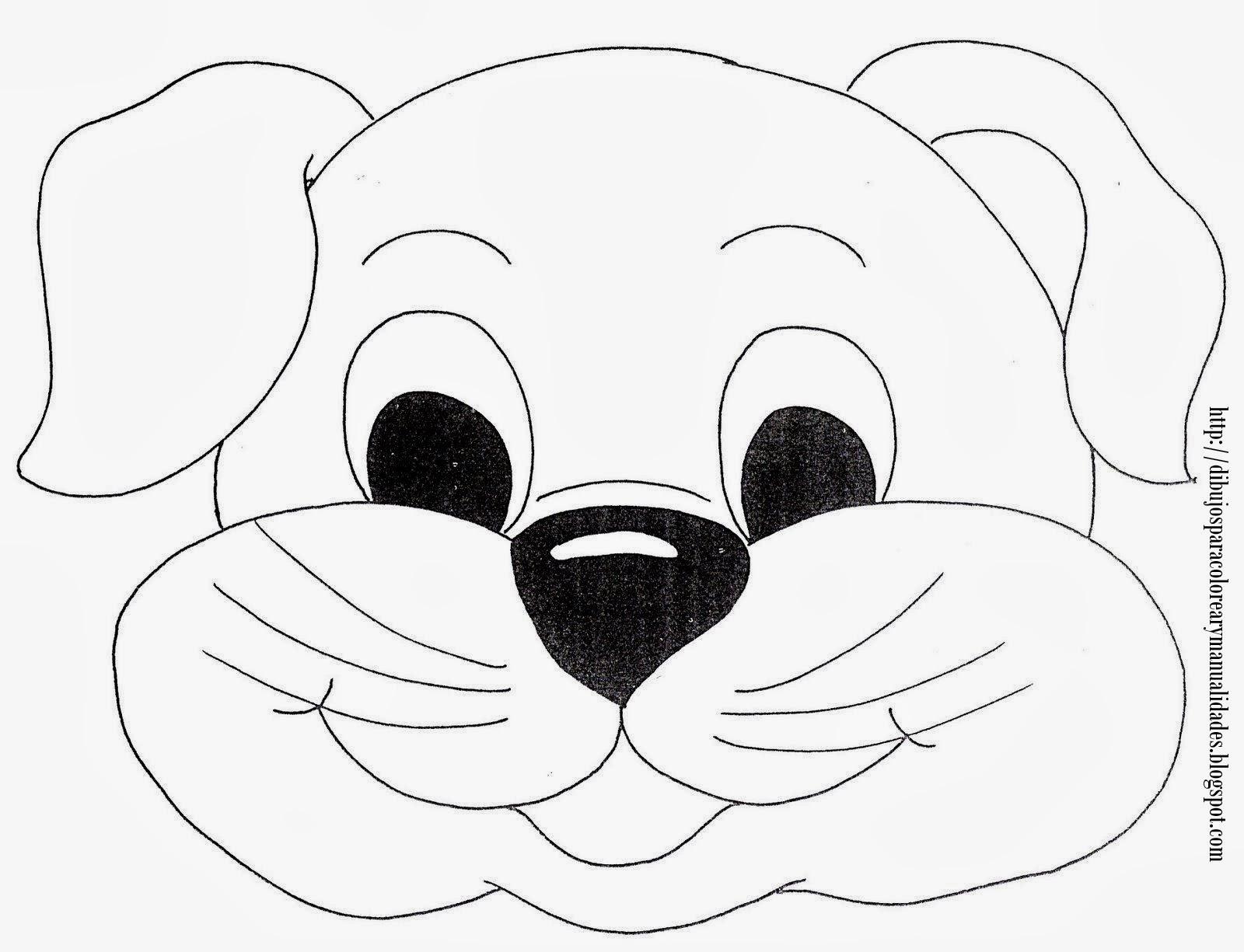 Baúl enmascarado: Máscaras de perros para colorear