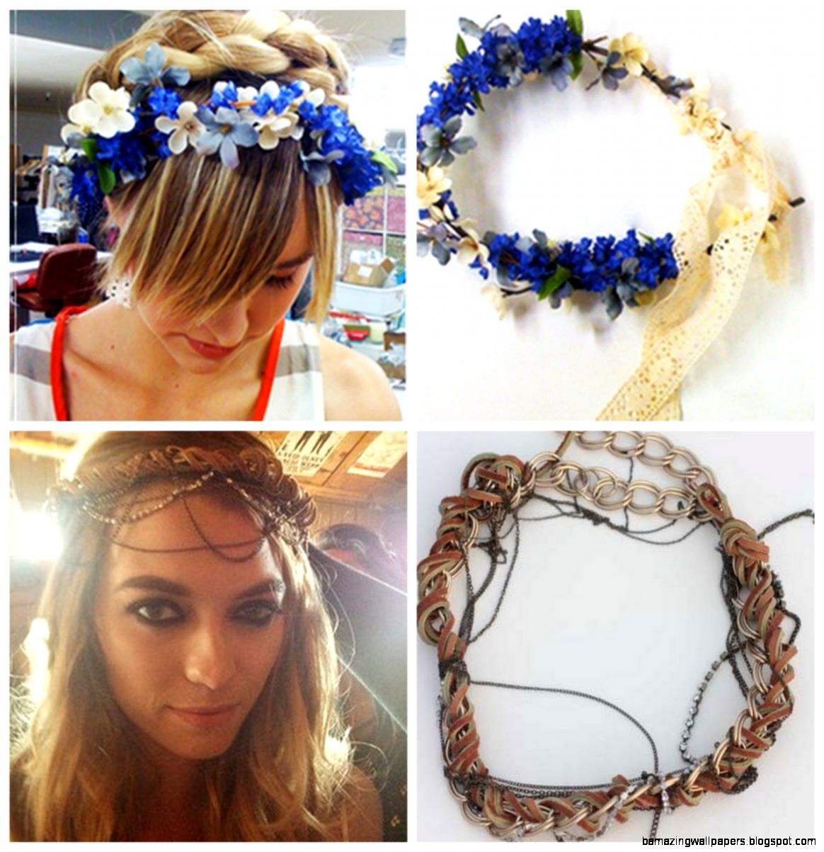 True Blue Me  You DIYs for Creatives • DIY Flower Crown and the