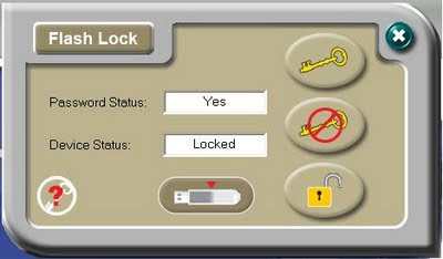 TDK Flash Disk Flash Lock Software interface