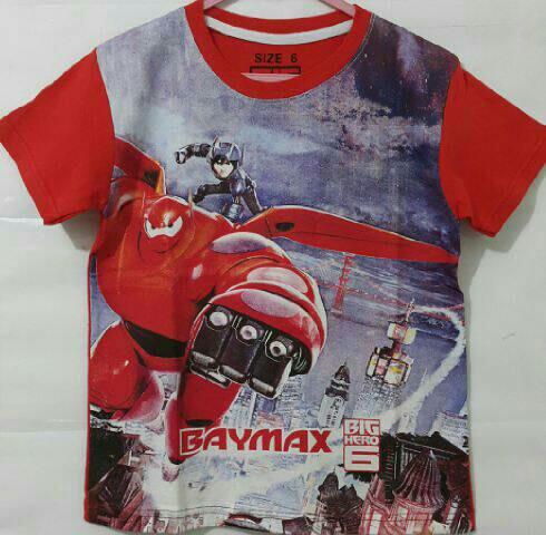 Baju Anak Karakter Baymax 6 Size 7 - 10 Tahun