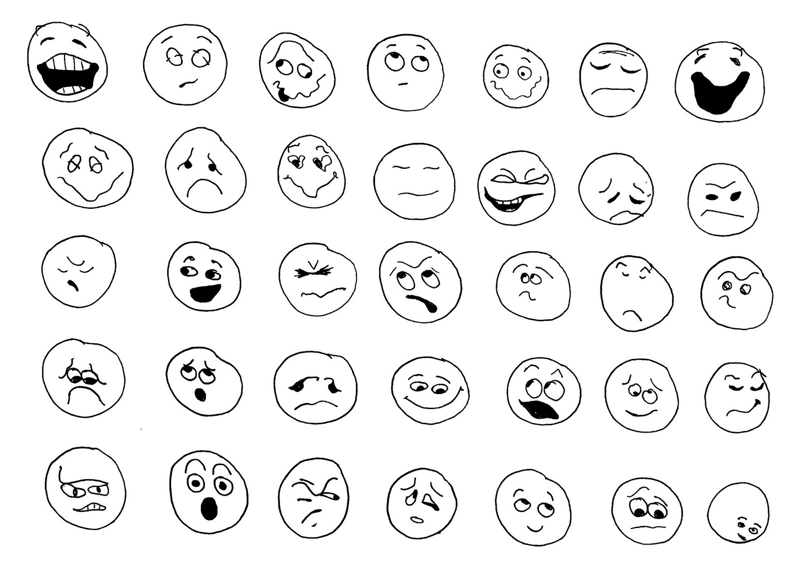 mood faces coloring pages - photo#26