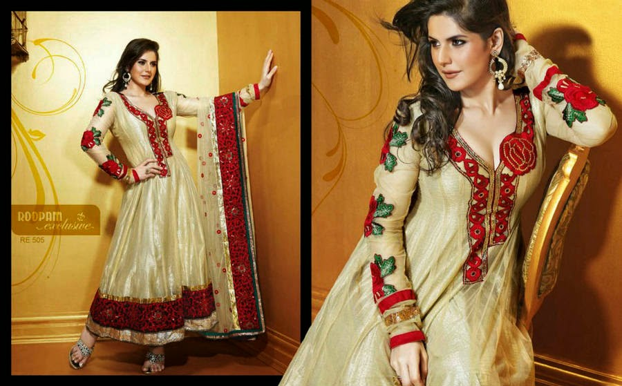 http://www.funmag.org/fashion-mag/fashion-apparel/zarine-khan-roopam-exclusive-churidar-suits/