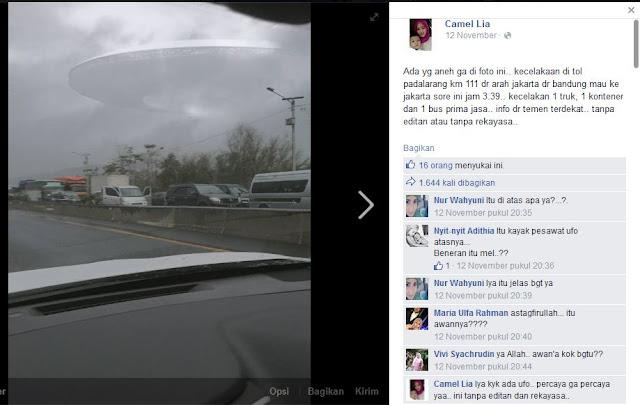 Penampakan UFO di Facebook