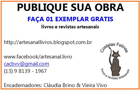 FAÇA 01 EXEMPLAR GRÁTIS DE SUA OBRA
