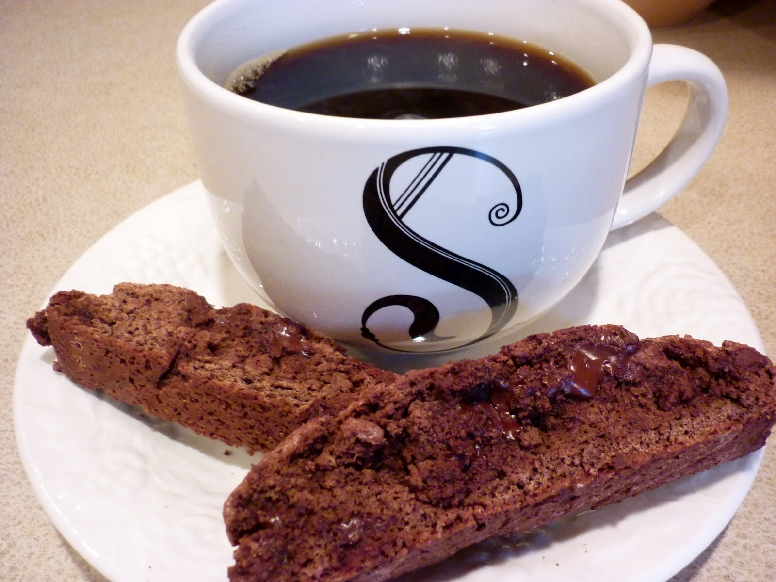 ... Life, One Measuring Cup At A Time: Chocolate Chocolate-Chip Biscotti