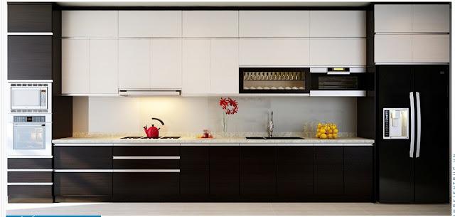 thiết kế tủ bếp mfc