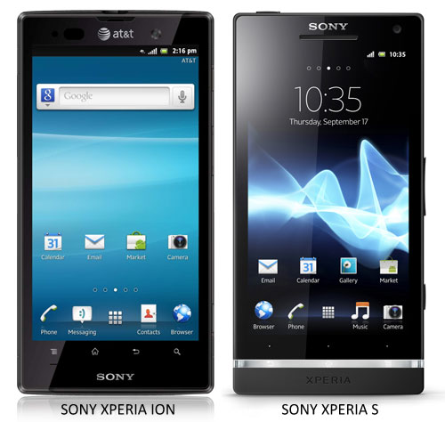 xperia ion vs xperia s