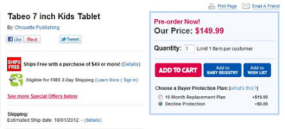 7 inch tablet tabeo