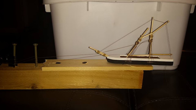 model ship basic rigging