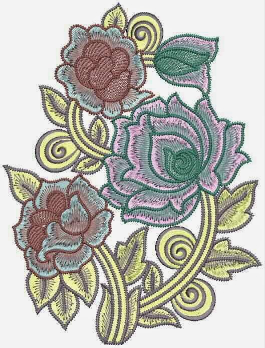 Embdesigntube hand stitched beaded flower applique embroidery - Appliques exterieures ontwerp ...