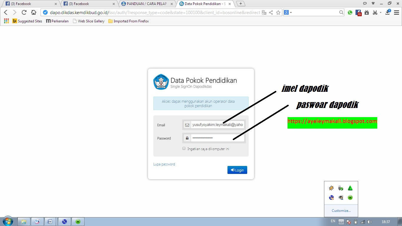 Cara Pelaporan Penggunaan Dana Bos Online Download Lengkap