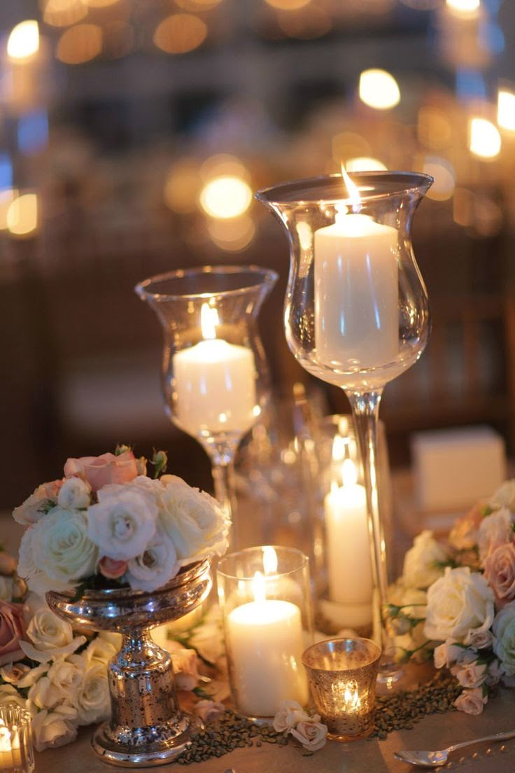 31 centros de mesa para boda con velas todo inspiraci n for Centros de mesa navidenos elegantes