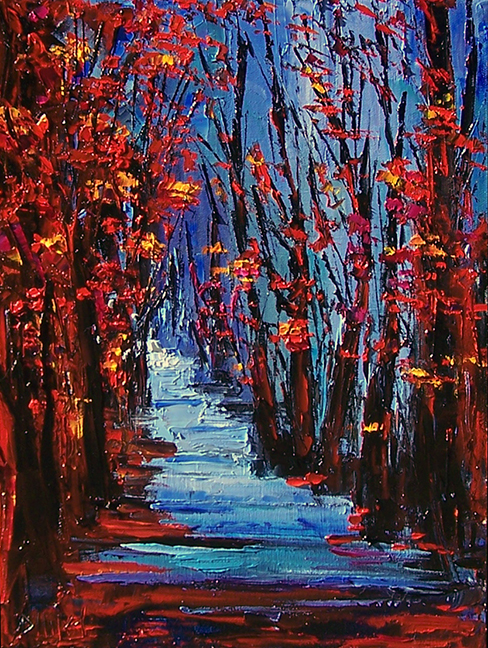 paintings of trees in autumn - photo #31