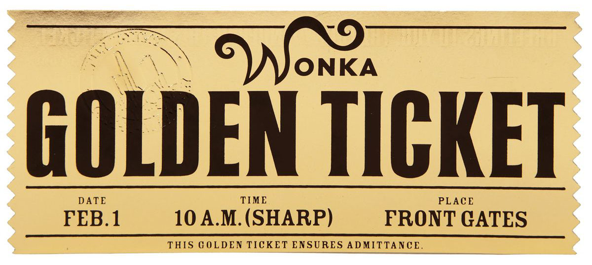 Beaufiful Golden Ticket Template Pictures Free Printable Golden