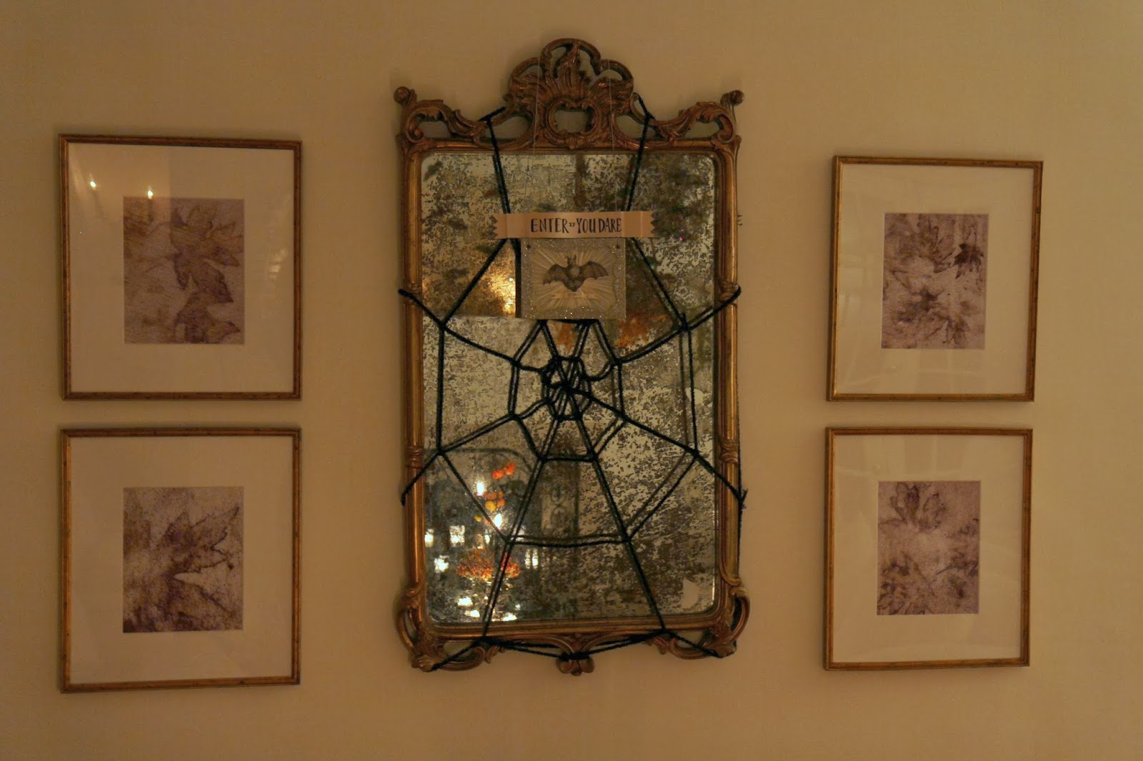 Mirror Spiderweb; Hauntify Your House for Halloween