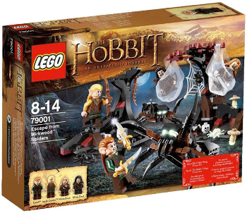 Image du Set LEGO The Hobbit 79001 - Escape from Mirkwood Spiders