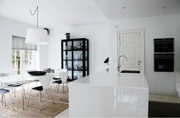 Danish Home in Black & White