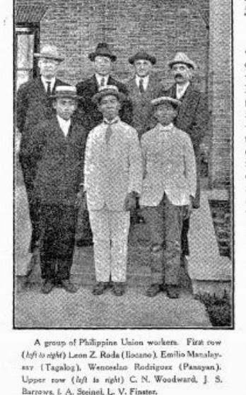 Philippine Delegation Asiatic Division, 1917