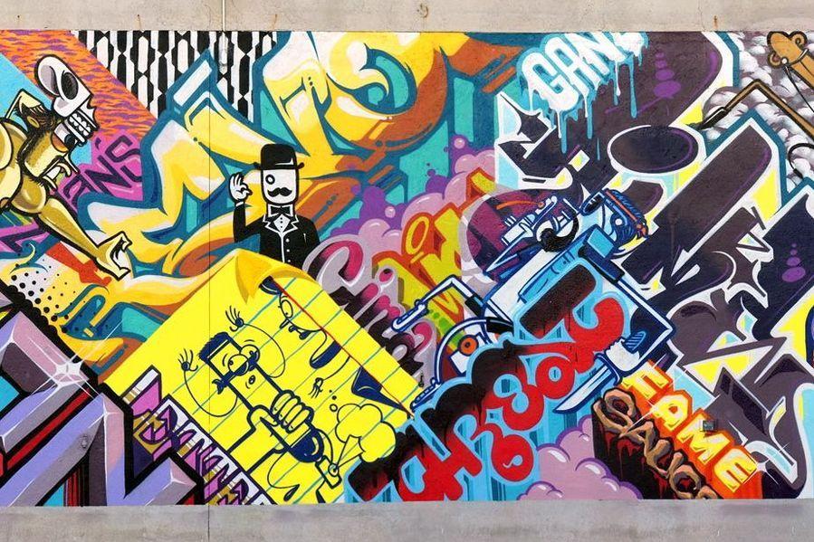 Detroit Graffiti Art Desktop Background 899 X 599