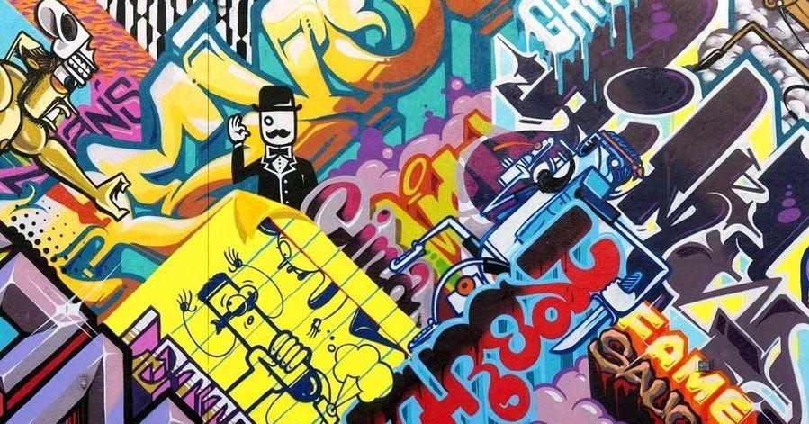 Detroit Graffiti Art Desktop Background 899 X 599 Wallpapers