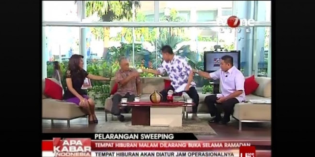 Video Jubir FPI Menyiram Muka Thamrin Amagola di TV One