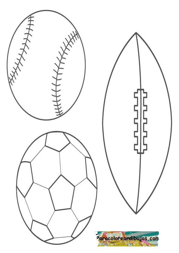 dibujo de pelotas para colorear