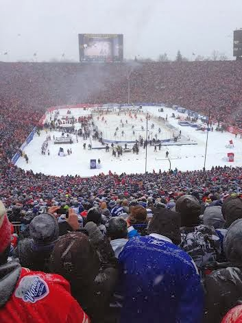 winter classic view leafs red wings
