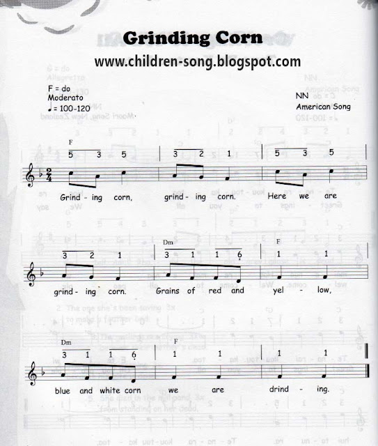 Grinding Corn Song with Notes and Chords