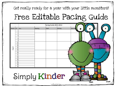 Freebielicious free editable pacing guide for Pacing calendar template for teachers