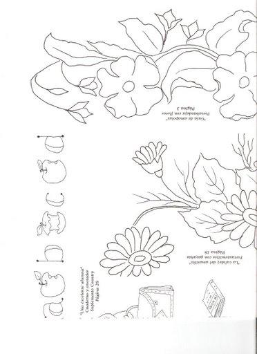 Patrones para bordados patrones para bordar - Dibujos para pintar en tela infantiles ...