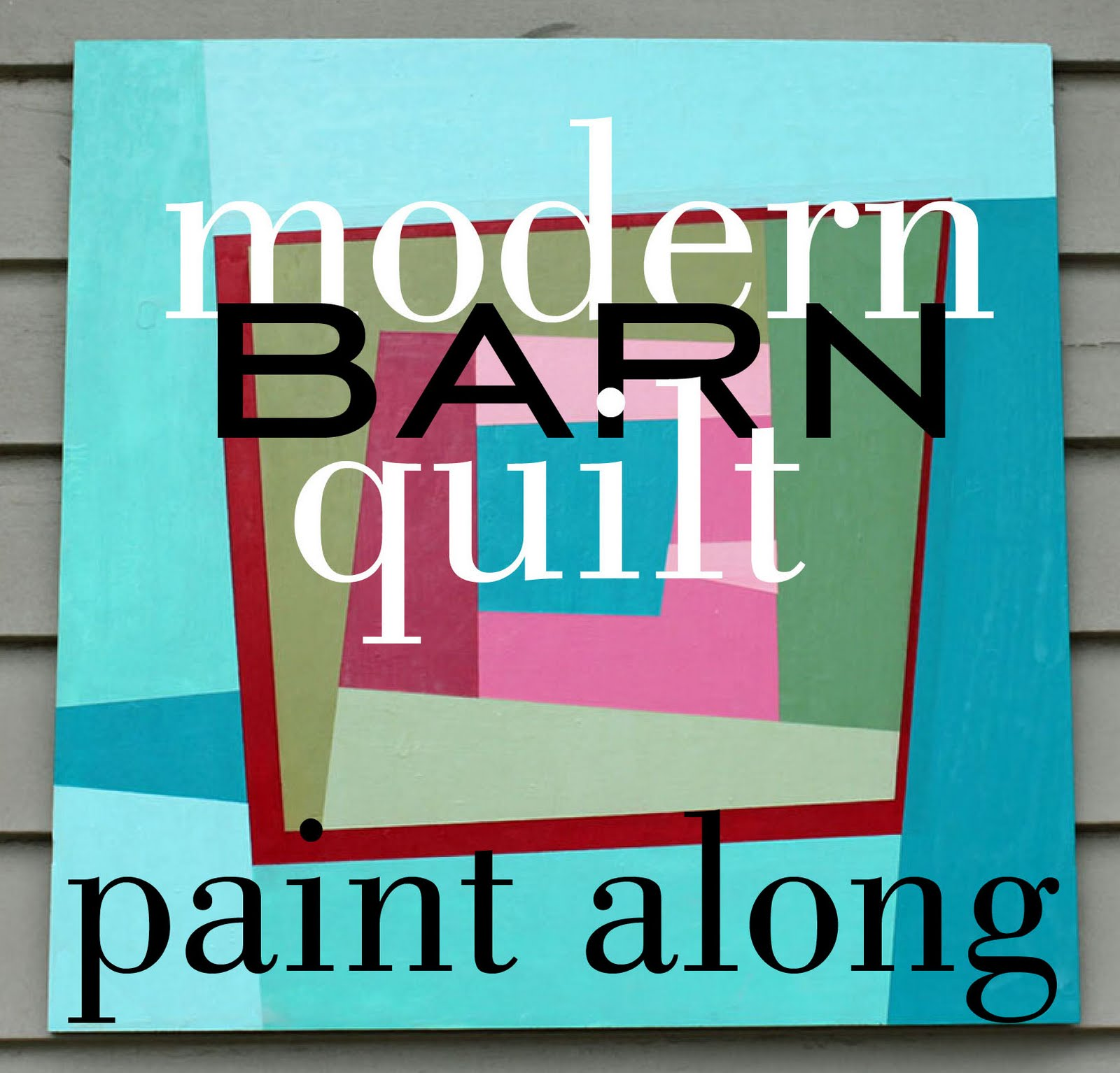 Olive and ollie modern barn quilt paint along day 1 for 1 day paint