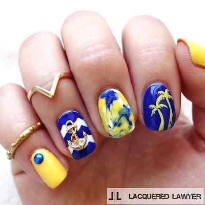 Anchor Nautical Nail Art