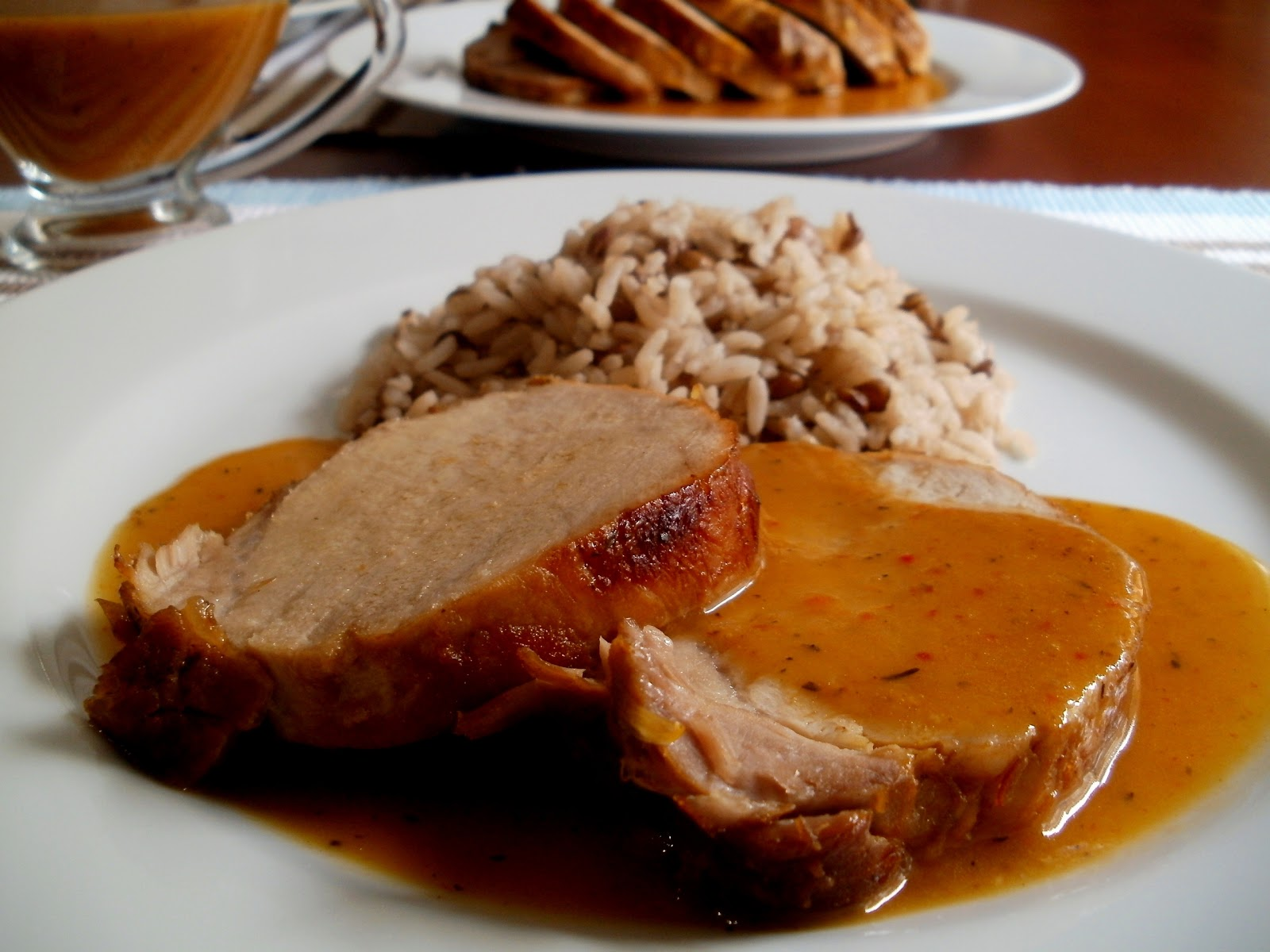 Los antojos de clara lomo de cerdo a la naranja - Como preparar un solomillo de cerdo al horno ...