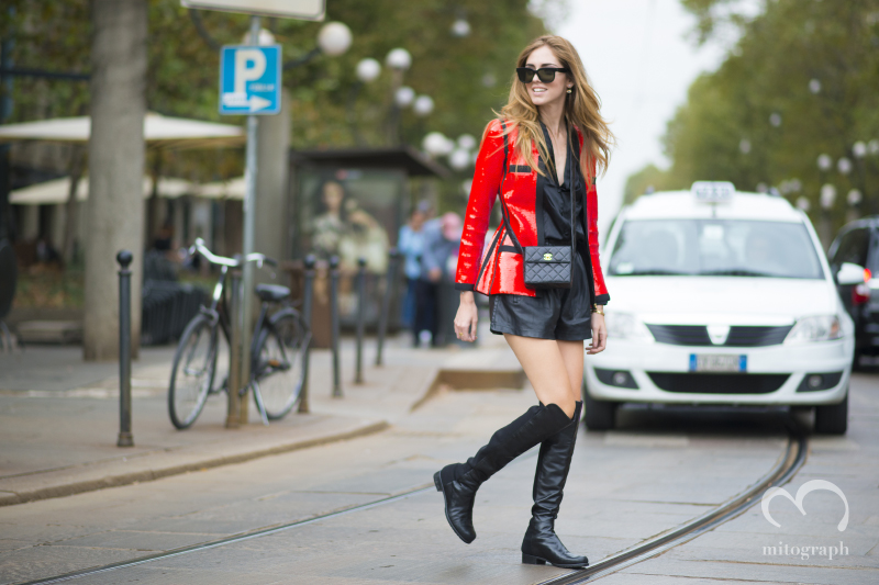 Chiara Ferragni at Milan Fashion Week 2015 Spring Summer MFW